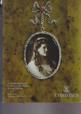 CHRISTIE'S AUCTION Highly Important Collection of Objects by Carl FABERGE 1993