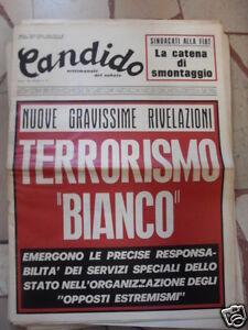 CANDIDO NUOVE GRAVISSIME RIVELAZIONI 25 LUGLIO 1974