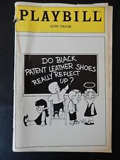JUNE 1982 - ALVIN  PLAYBILL - DO BLACK PATENT LEATHER SHOES REALLY REFLECT UP?