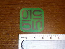 Five Ten Green Logo Sticker Decal