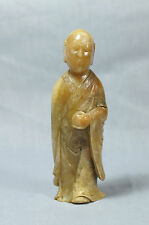 Nice  Hand  Carved  Chinese  Shou-Shan  Stone  Louhan  Figure