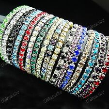 10pcs Wholesale jewelry lots Top full Czech rhinestones Bracelets mix color NEW