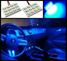 2 Ultra blue 12 LED interior dome map light SMD panels Xenon bulbs HID lamp #A2