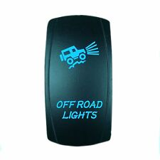 Laser Waterproof Rocker Switch Push Button Blue LED OFFROAD LIGHTS Backlit