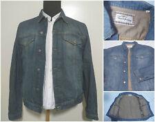 Burberry denim jacket coat  cotton men blue rare exellent condition   L