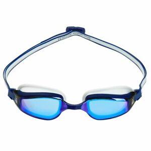 Aqua Sphere Fastlane Swimming Goggles, Blue Mirrored Lens - Navy & White, Fitnes