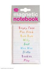 Brainbox Candy lista de Funny grosero palabras Magnético notebook/pad Regalo De Navidad