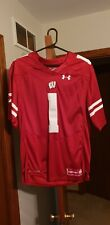 Nwt Wisconsin Badgers Authentic Football Stitched Jersey Men's Medium