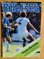 Chelsea v Preston North End 1980/81 programme