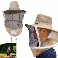 Beekeeping Cowboy Hat Mosquito Bee Net Veil Face Head Protector Cap Protection
