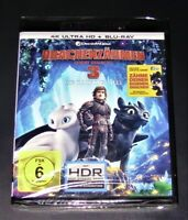 Dragontrainer Luce Fatto 3 La Segreto Mondo 4K Ultra HD blu ray+ blu ray Nuovo
