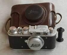 """Leica II D """"M"""" Marine copy chrome in leather case (FED-Zorki copy)"""