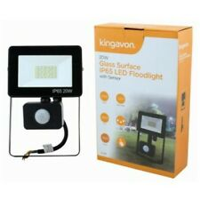20 W LED Glass Surface Floodlight Outdoor Sensor Security Light Waterproof UK