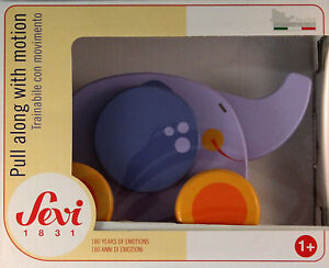 Sevi Nachzieh-Elefant aus Holz 82596 NEU Nachziehspielzeug