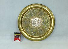 Messingtablett Wandteller Tablett Teller Silber Damaskus Syrien um 1920