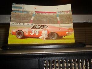 1970 Wendell Scott No. 34 Ford Vintage NASCAR Postcard