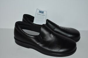 NEW SAS Women's Viva Teak Black SlipOn Loafer Shoe Size 9W