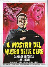 CINEMA-manifesto IL MOSTRO DEL MUSEO DELLE CERE mitchell, helm, TOWNSEND