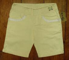 Bnwt Women's Authentic Oakley Spring Shorts Size 14 Bleached Yellow New