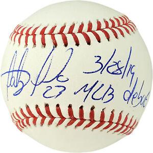 Fernando Tatis San Diego Padres Autographed Signed Engraved Blonde Baseball Bat Peter JSA DEBUT COA