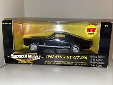 Ertl American Muscle 1967 Shelby GT-350 Black Hobby Edition 1/18 Diecast 33275