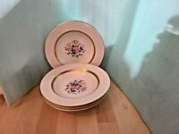 "Set 4 Theodore Haviland New York Gainsborough 8"" rimmed soup bowls  (Gotham)"