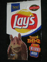 Empty Lay's Star Wars Chip Packet 1999 Tazo promotion wrapper bag Lays original