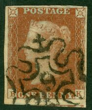 SG 8M 1D rosso marrone numero 9 in maltese cross. molto belle usate 4 belle margini