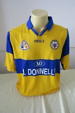 CLARE AN CLAR O'NEILLS GAA GAELIC HURLING L LARGE 1990 M.DONNELLY YELLOW BLUE