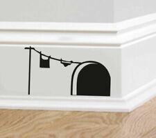 Decalcomania da parete neri per la decorazione della casa, tema arte