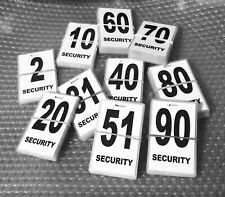 Security guard / crowd controller number tag ID (White) Various Numbers