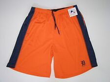 MLB Majestic Detroit Tigers Orange & Navy Trim TX3 Cool Synthetic Shorts