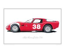 Alfa Romeo Giulia TZ2 - Limited Edition Classic Car Print Poster by Steve Dunn
