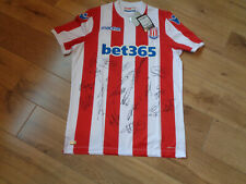 STOKE CITY SIGNED FOOTBALL SHIRT COA X 21 2019 2020 VOKES CHESTER INCE BUTLAND