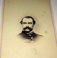 Rare Antique American Civil War Union Officer Philadelphia PA Military CDV Photo