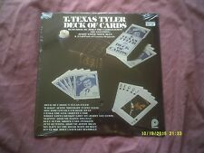 T. TEXAS TYLER-DECK OF CARDS USA COUNTRY LP SEALED/NEW