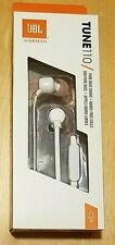 JBL Tune 110 White Headphones / Earbuds, New In SEALED Box!! Hands Free Calling