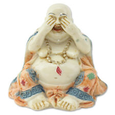 Feng Shui See No Evil Happy Face Laughing Buddha Figurine Home Decor Statue