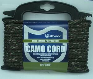 "Attwood 11719-2 Diamond Braid MFP Camo Rope Cord 1/4"" x 50 ft 20597"