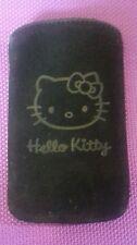 Handyhülle/Tasche Samsung Galaxy S3 mini, Hello Kitty, schwarz, Lederoptik