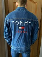 Tommy Hilfiger Tommy Jeans 90s Denim Jacket with Tommy Flag in Blue - Large (L)