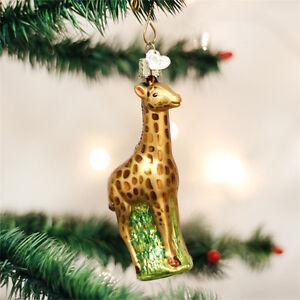 Baby Giraffe Glass Ornament