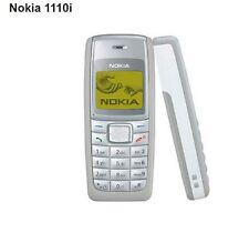 Téléphone Mobile Nokia 1110i + batterie + chargeur - Blanc Gris - désimlocké