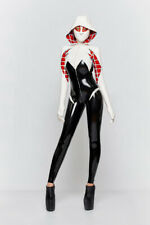 Latex gummi rubber cosplay playsuit personality suit club game sexy bodysuit