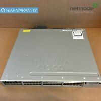 Cisco WS-C3850-48U-S 48 Port Full PoE+ Switch 1100WAC PWR 3850 IP Base - UWS