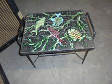 Design vintage 50 Table appoint Métal Plateau Lave émaillée DLG ADNET Jouve