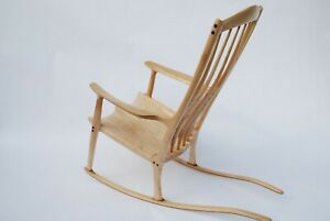 Rocking Chair inspired by Sam Maloof / Maple wood / handcrafed chair