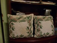 HOLLY PILLOWS-1 PAIR