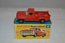 Matchbox Superfast No 6 Ford Pick Up in excellent plus boxed condition