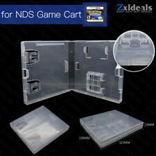 Replacement Case for NDS Nintendo Game Cart Spare Cartridge Clear Box With Logo
